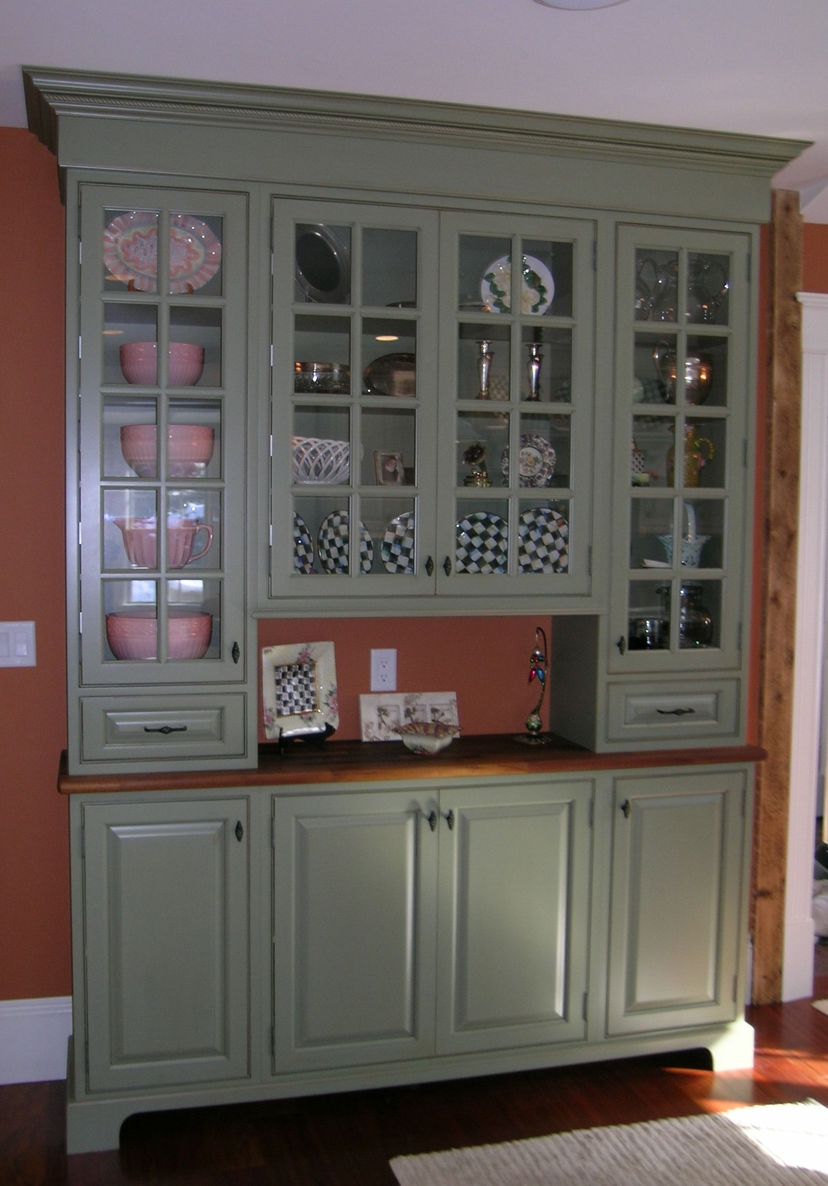 Going to be painting the kitchen cabinets this week Sage green it