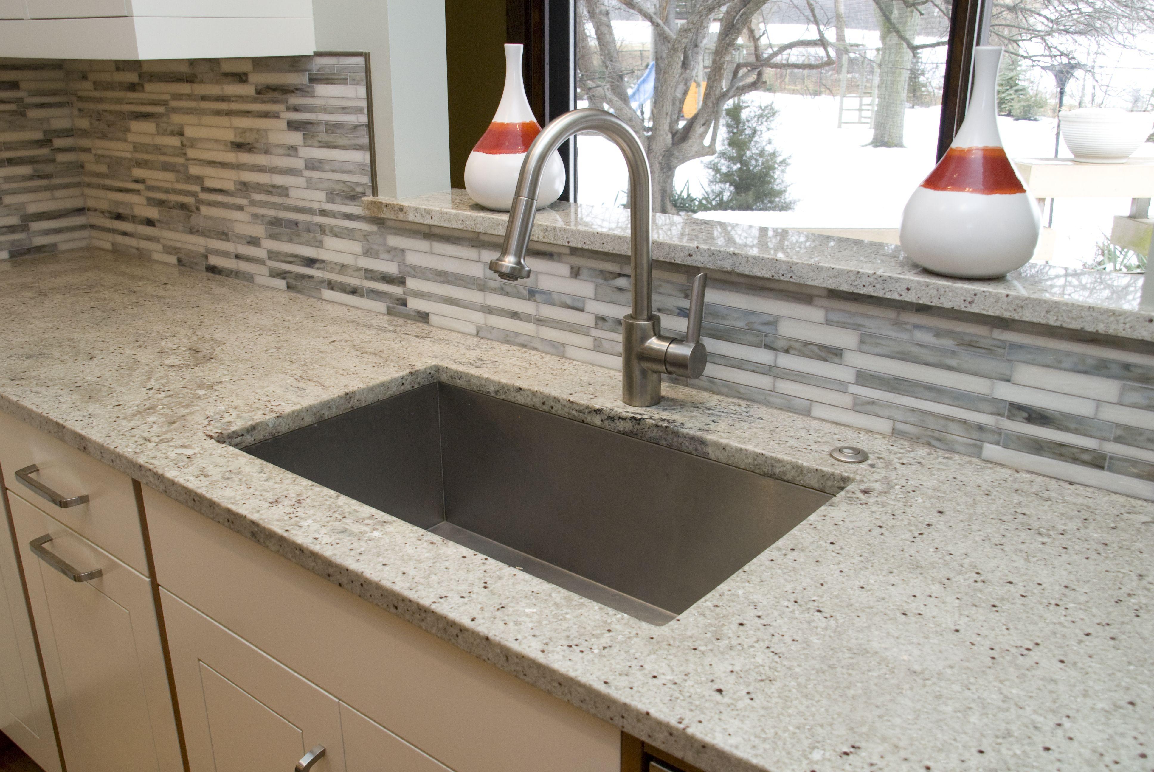 Kitchen window ledge  kitchen love the back splash and sink  kitchens  pinterest