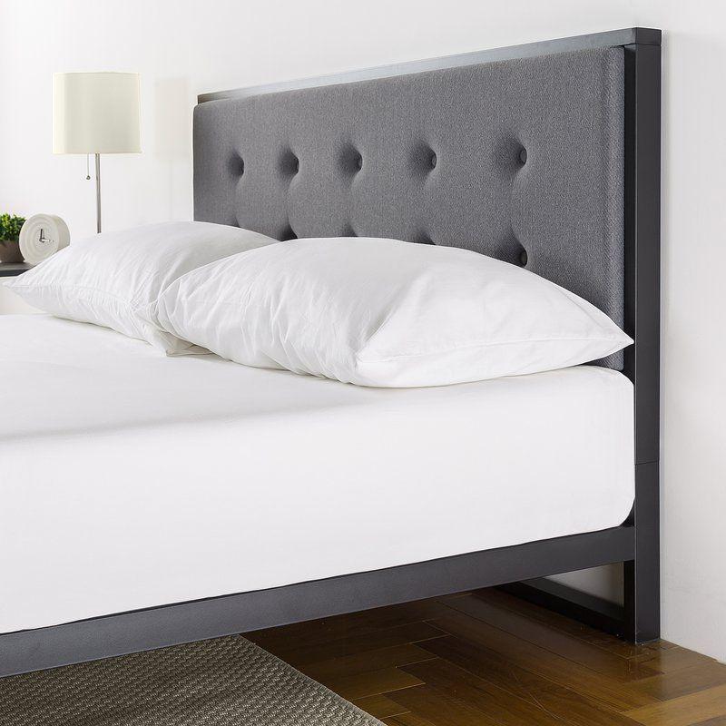 Best Berta Industrial Queen Standard Bed Platform Bed Bed 400 x 300