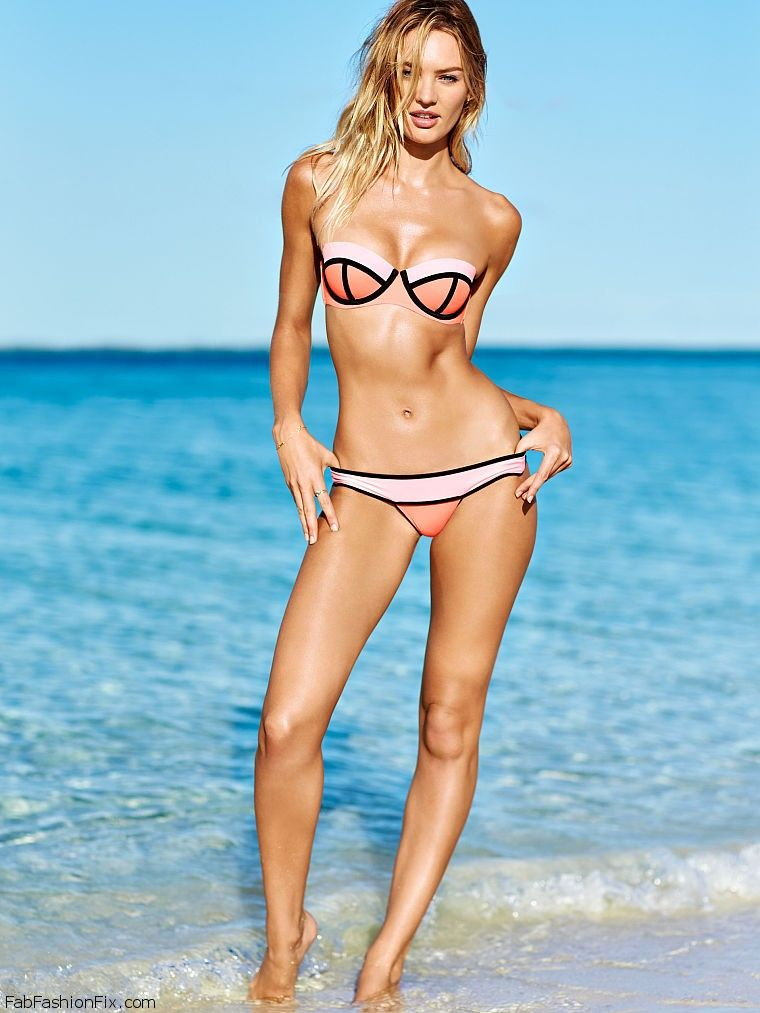 91702a642 Sexy Candice Swanepoel for Victoria s Secret Swim Catalog 2015.  vsswim   swimwear