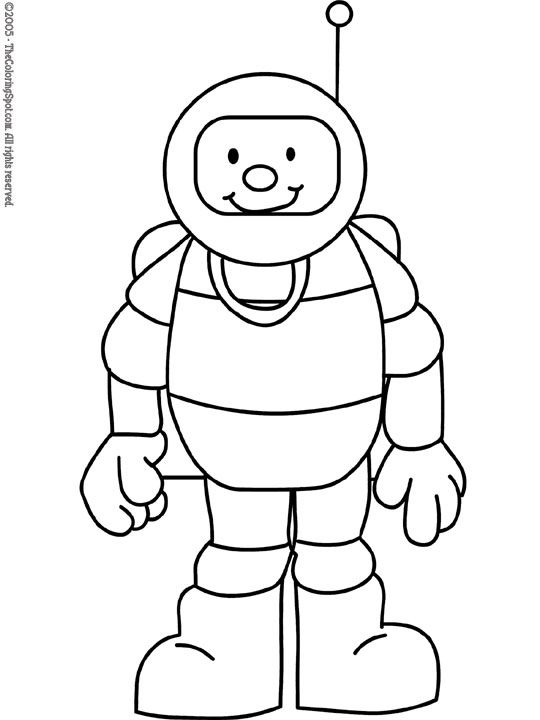 astronauts coloring pages for kids - photo#26