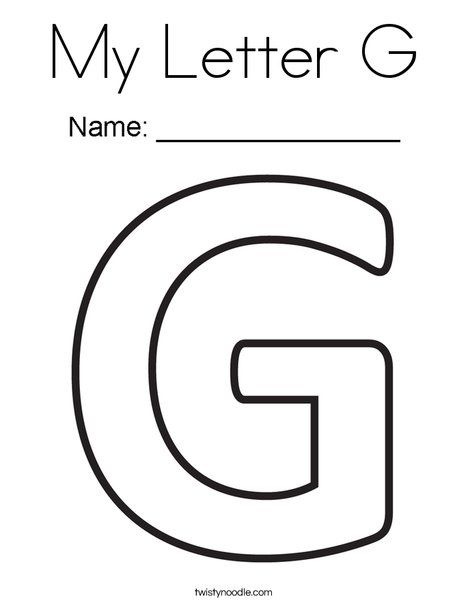 My Letter G Coloring Page Twisty Noodle Letter G Letter A Crafts