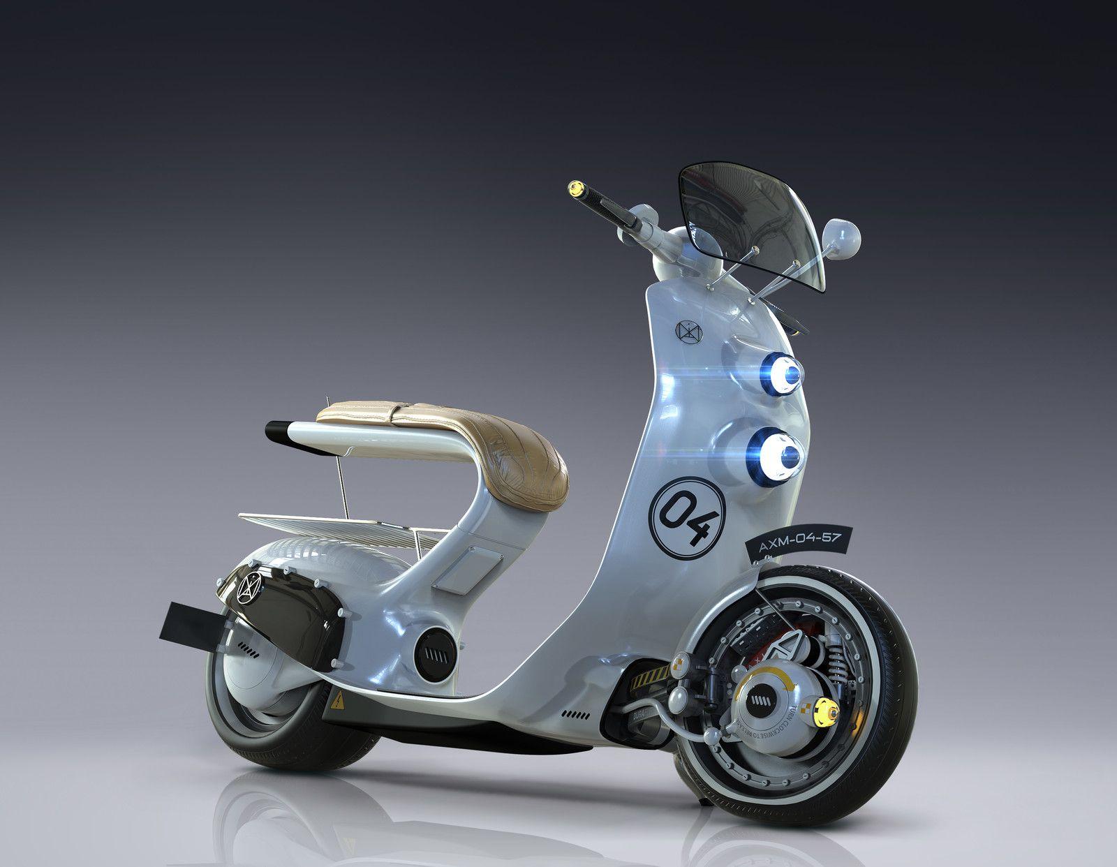 Axm 4 Scooter Igor Sobolevsky Scooter Design Scooter Bike Scooter