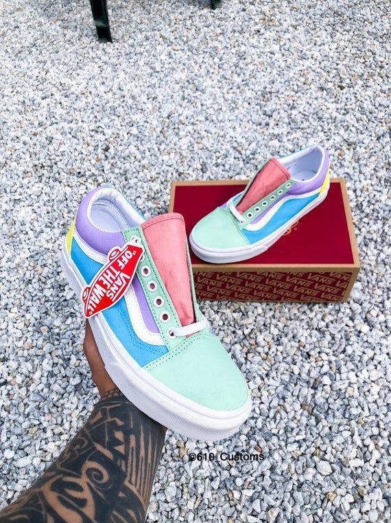Vans shoes fashion, Pastel shoes