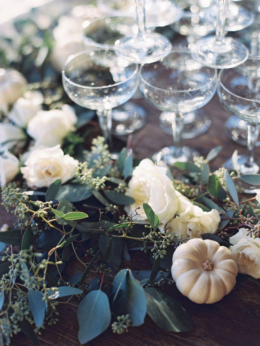 Dreamy Malibu Fall Estate Wedding Greenery Garland Greenery And