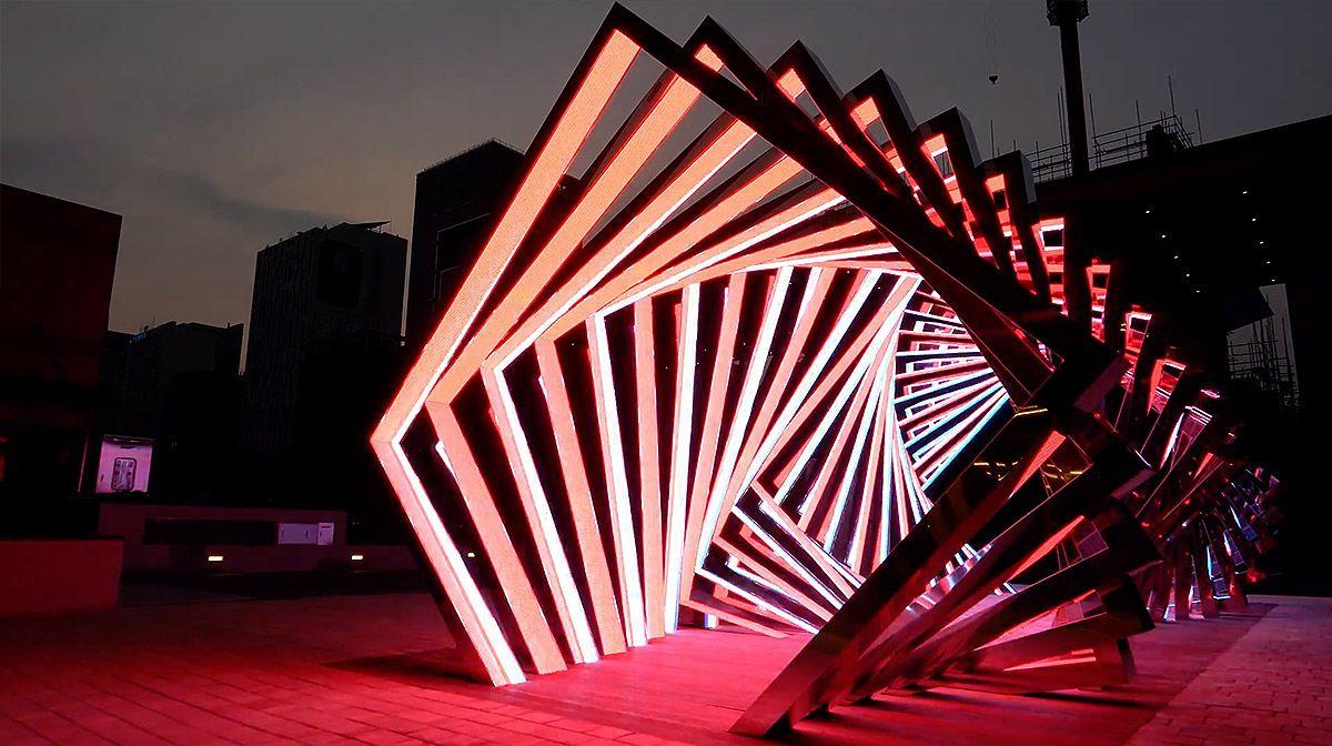 Accumulation: Dramatic LED Light Tunnel by Yang Minha | Art ... for Led Light Installation Art  575lpg