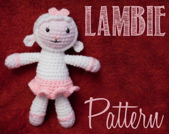 Easy Amigurumi Pdf : Lambie from doc mcstuffins amigurumi crochet pattern lambie
