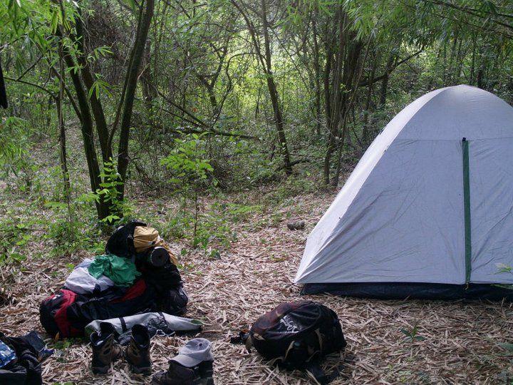 2º acampamento na Cachoeira dos Martins (Monte Alto - SP )