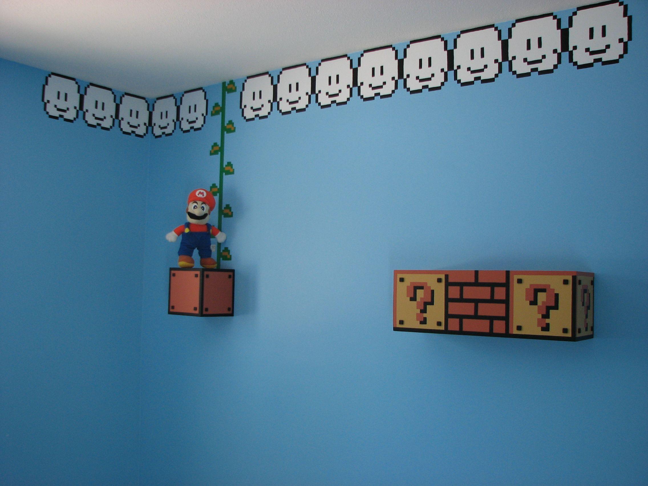 Mario Bros boy bedroom chambre gars garçon  Gamers