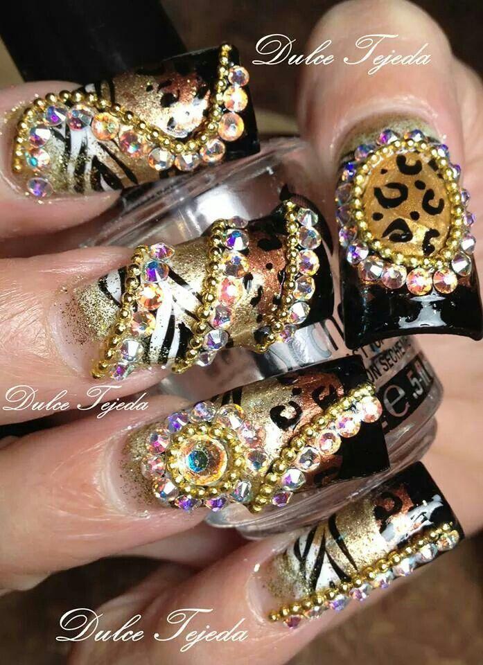 Estilo Sinaloa nails. | love | Pinterest | Sinaloa nails, Bling ...