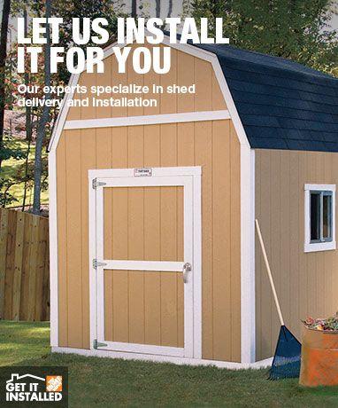 sheds metal plastic wood garden sheds at the home depot - Garden Sheds Home Depot