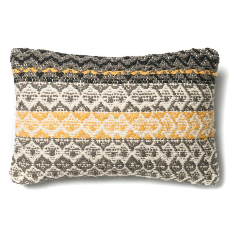Loloi P0293 Rectangular Decorative Pillow Polyester Fill - PSETP0293GYGOPIL5