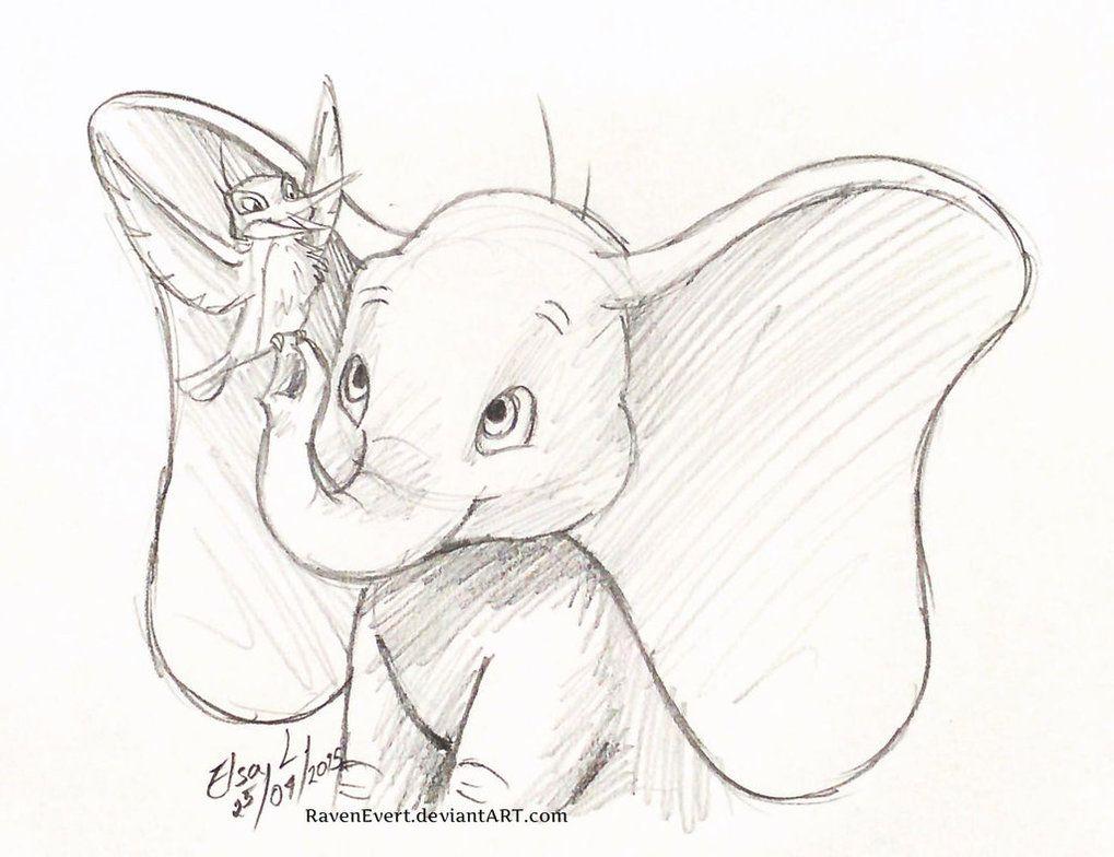 dumbo playing sketch - Google zoeken  Original disney sketches