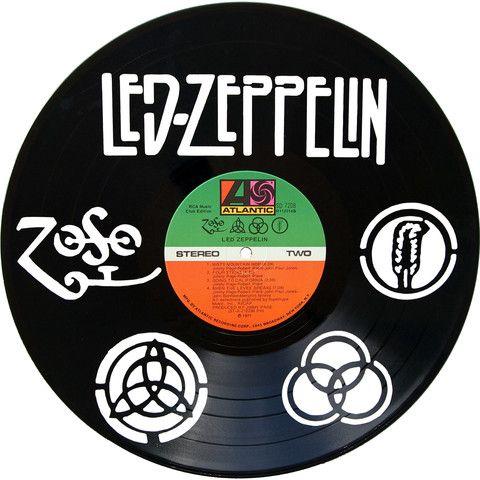 Led Zeppelin Vinyl Record Art Records Redone Www