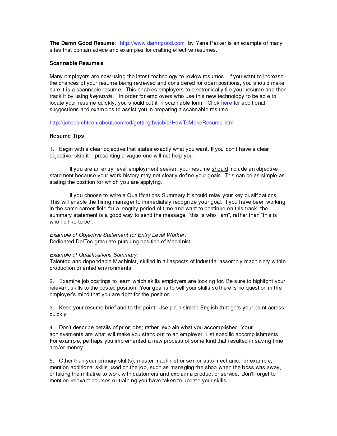 Qualifications For Resume Example - http://www.resumecareer.info ...