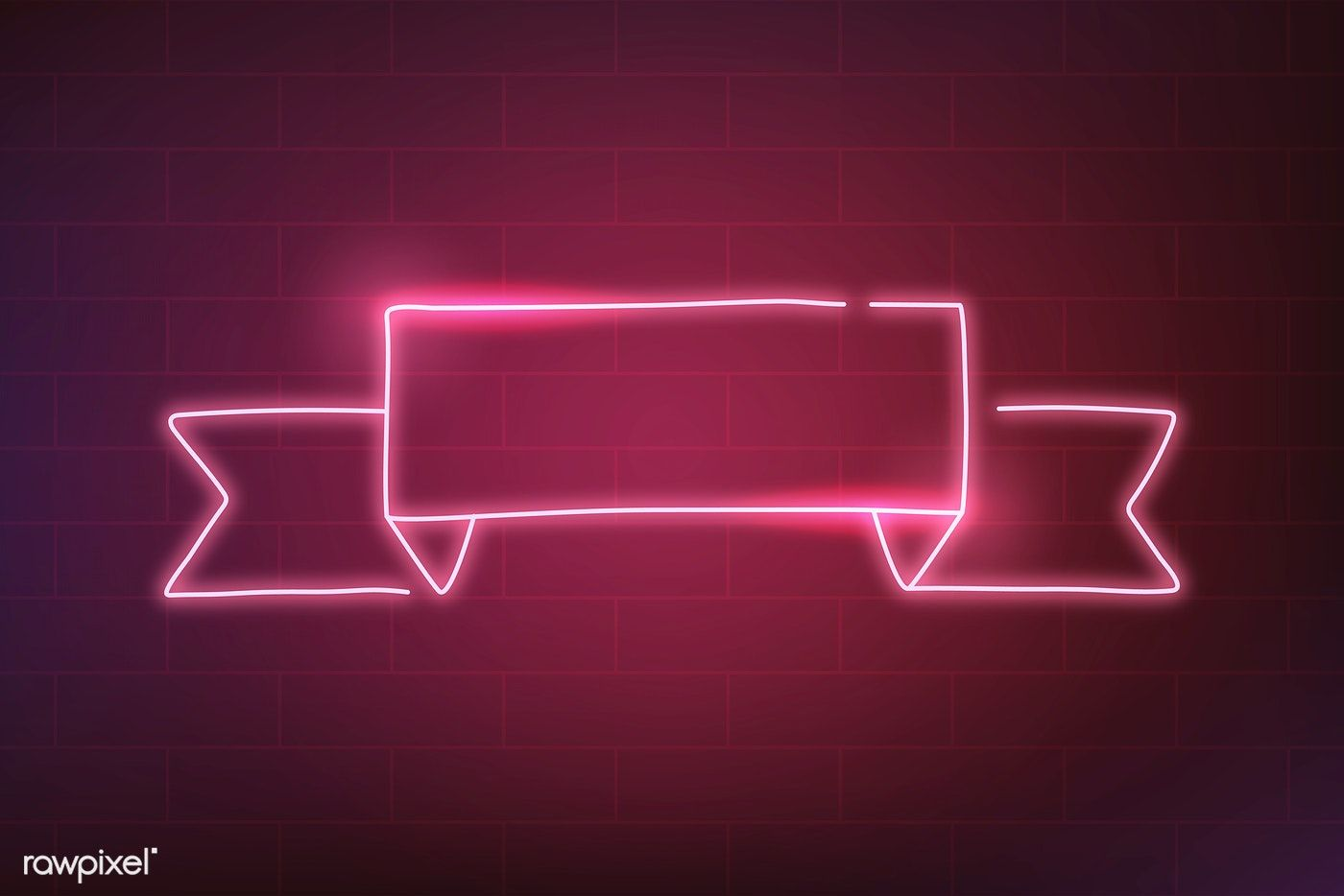 Neon banner on a red background vector free image by