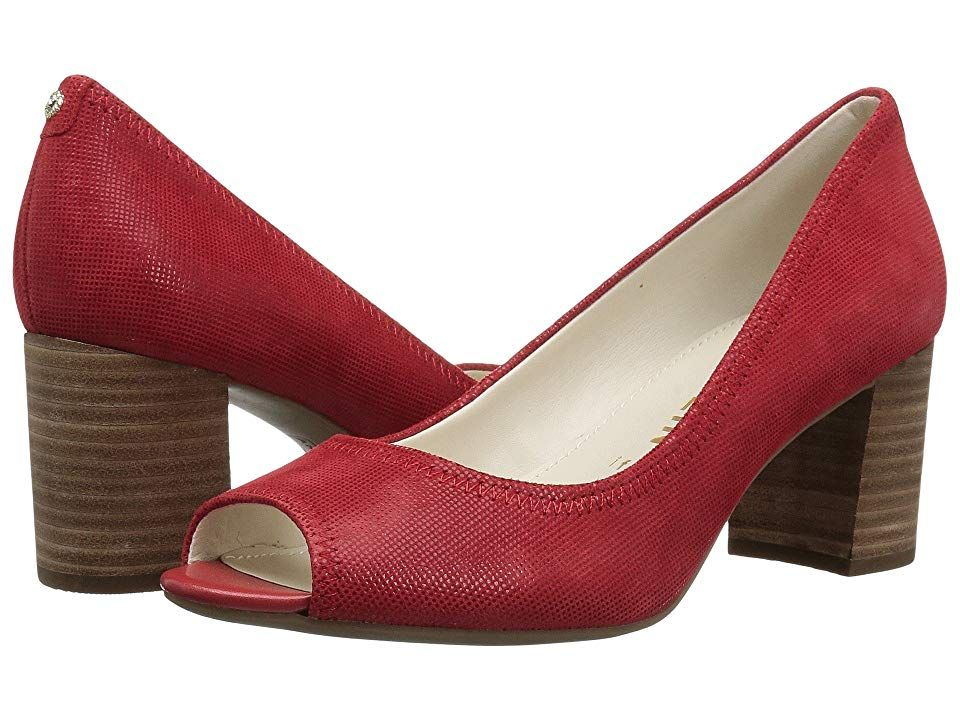 1bcb74648b8 Anne Klein Meredith (Medium Red Leather) Women's Shoes. Go for ...