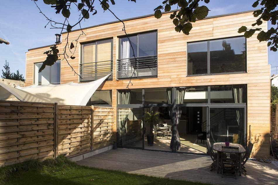 Des maisons jumelees en ossature bois par MAG Architectes Architecture
