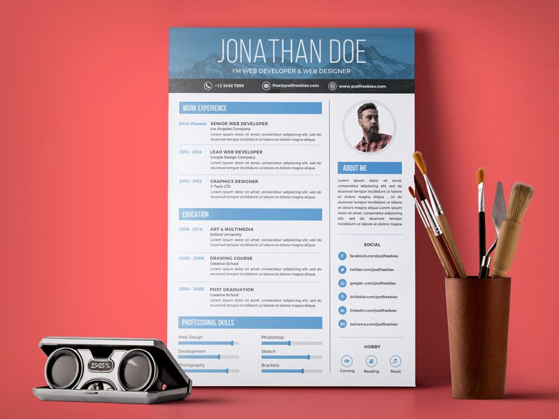 10 Free Simple & Clean ResumeCV Templates You Would Love