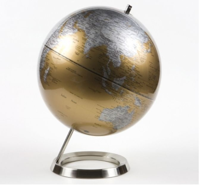 Gold World Globe Table Stand Globes Map Home Decor Office Desk Modern Style