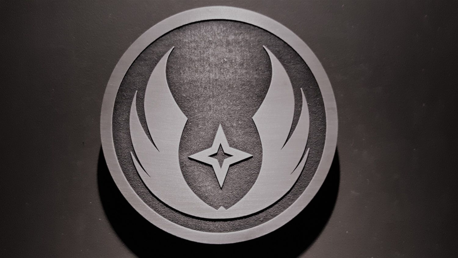 Star Wars Gray Jedi Order Plaque Sign In 2020 Grey Jedi Star Wars Background Grey Jedi Symbol