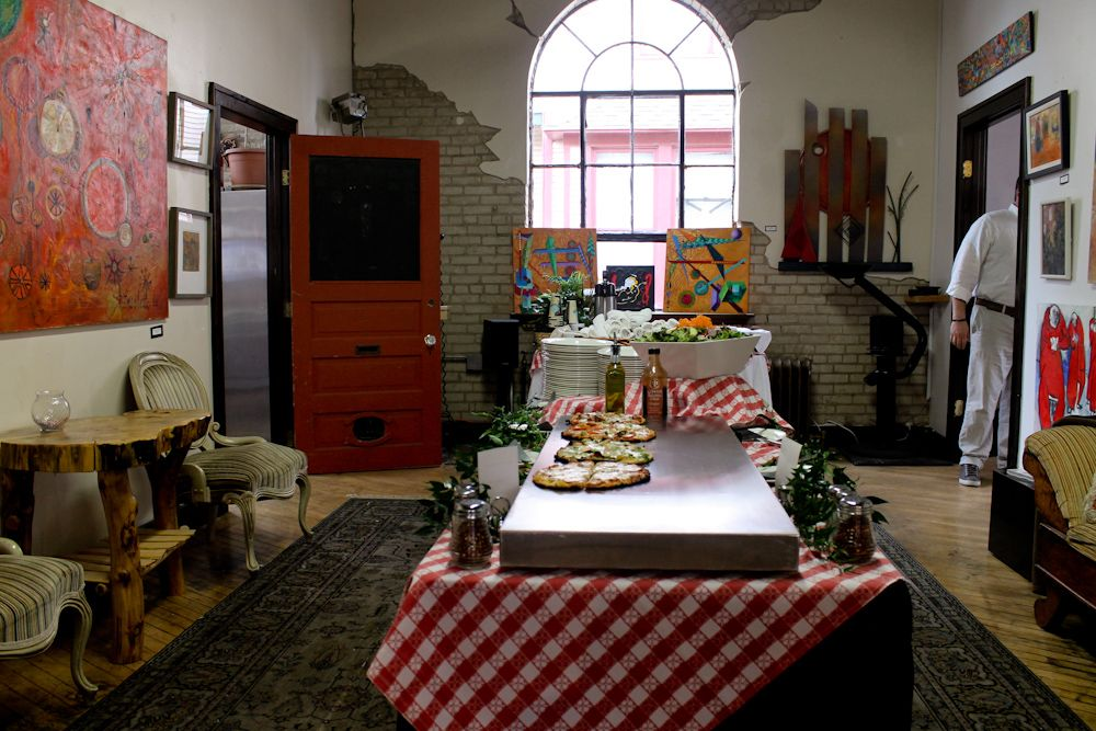 Gilmore Catering at the Richard App Gallery.