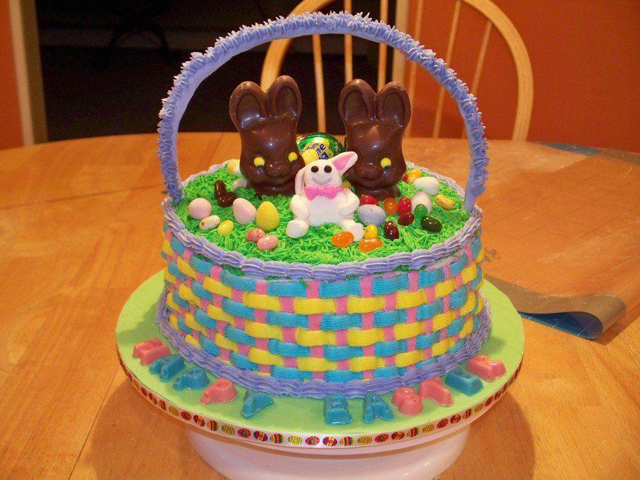 Easter basket cake easter basket cake cake basket