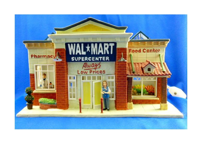 walmart supercenter 2007 traditional vintage collection lighted miniature supermarket add this to