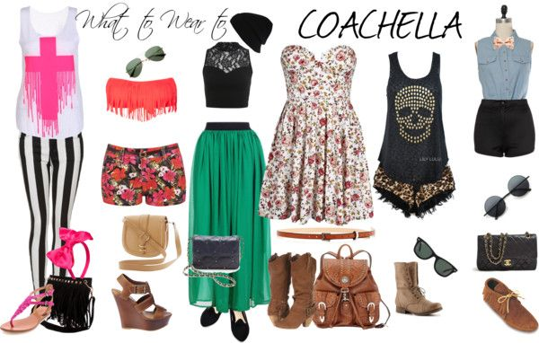 """""""What to wear to Coachella"""" by onecrazynation ❤ liked on Polyvore"""