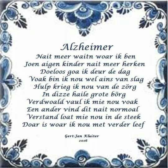 Alzheimer gronings gedicht