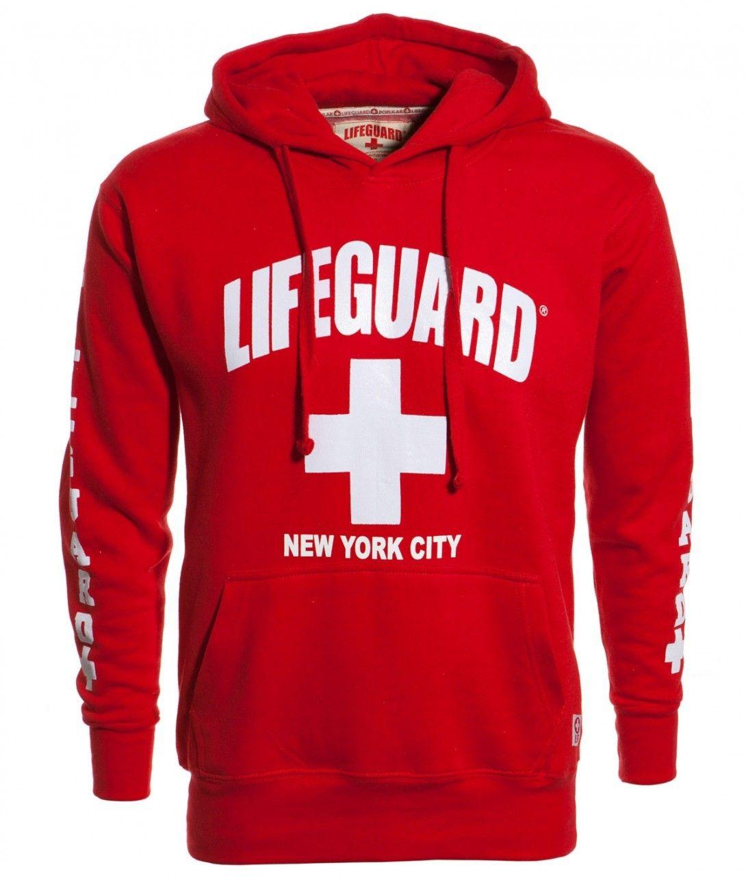 97af0d9fd3039 GrandSlamNewYork.com - LIFEGUARD New York City Red Hoodie