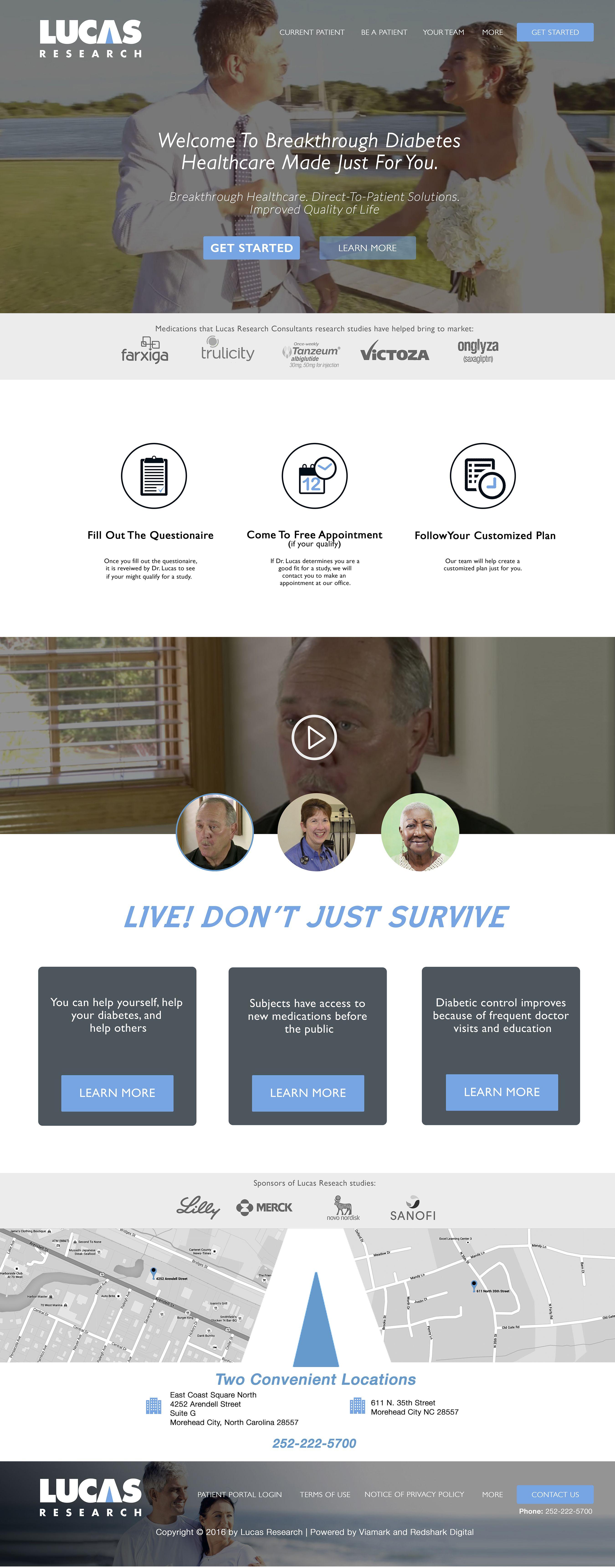 Lucas research web design web