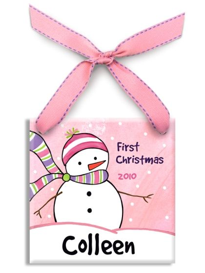 10cf690158271 Chilly Snowgirl Girl Ceramic Ornament