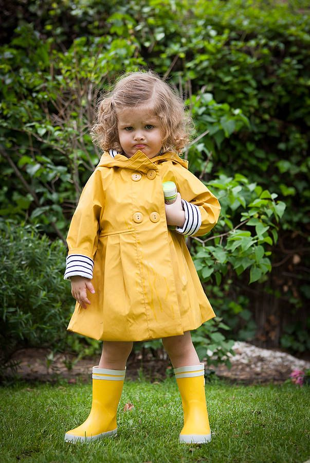 b5fb6bdd Girl's Yellow Raincoat | adorable ❤ | Kids coats, Yellow raincoat ...