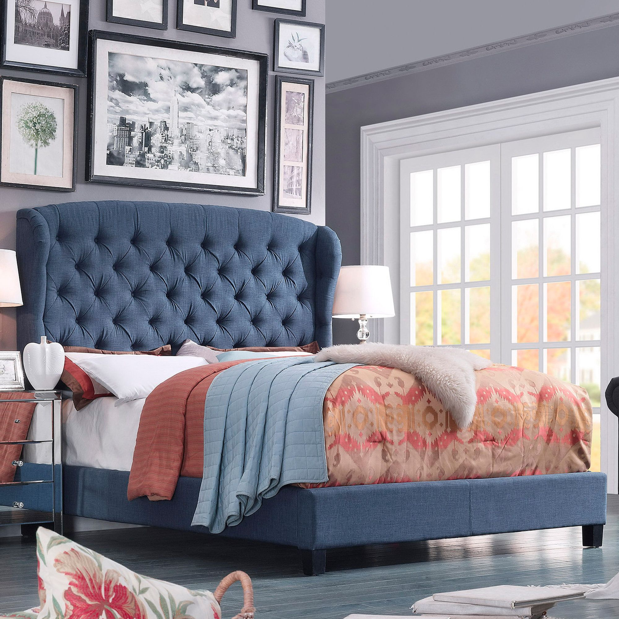Alexia Upholstered Panel Bed Upholstered Panel Bed Bedroom Furniture For Sale Furniture