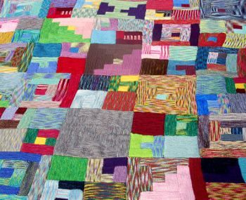 b48244b3d Knit and Pray  Modern Log Cabin Blanket