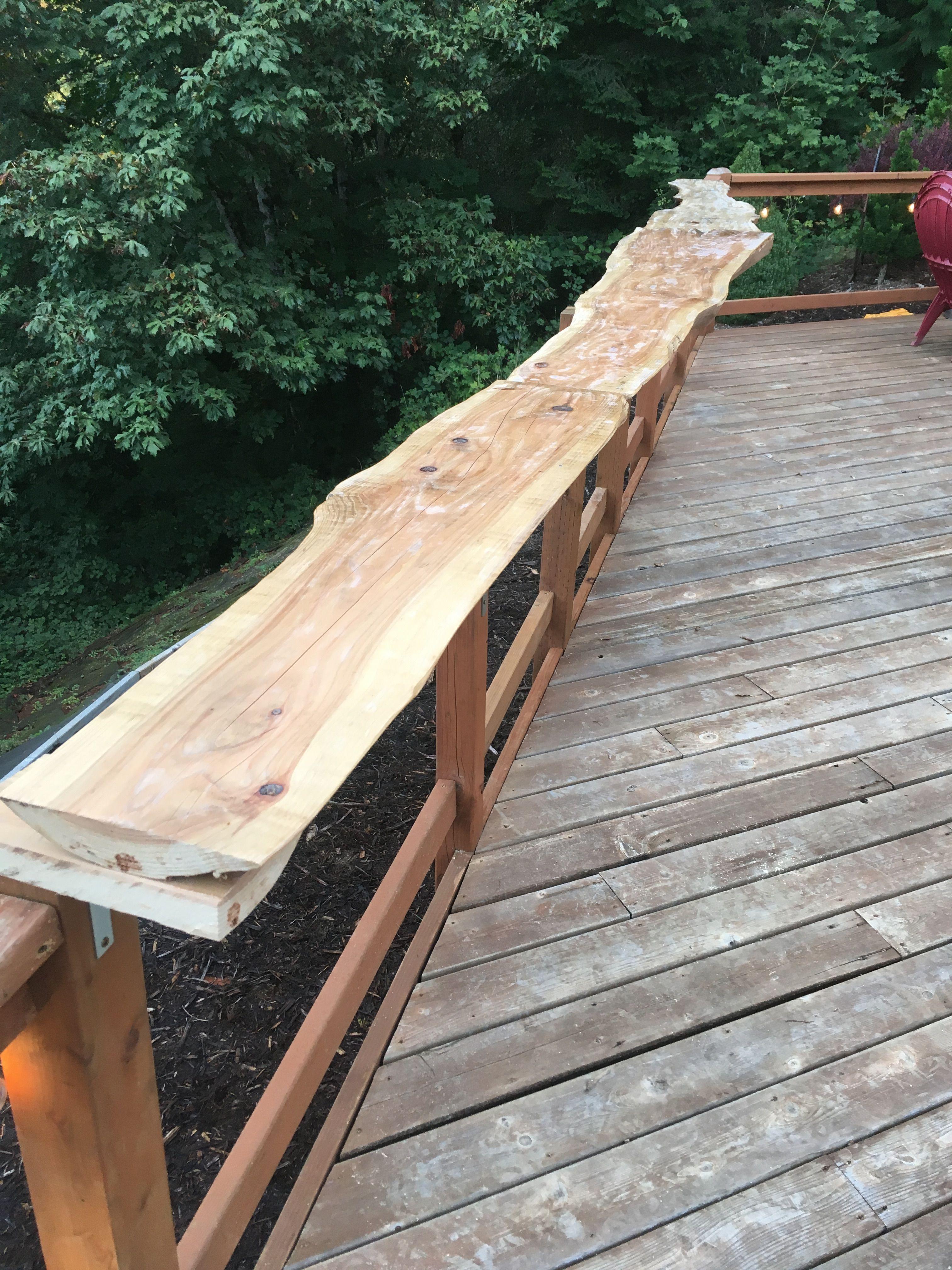 Reclaimed Wood For Deck Railing Bar Top Wood Deck Railing Diy Deck Deck Railings
