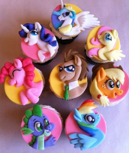 Magic Pony Character Cupcakes....Brody would love this!