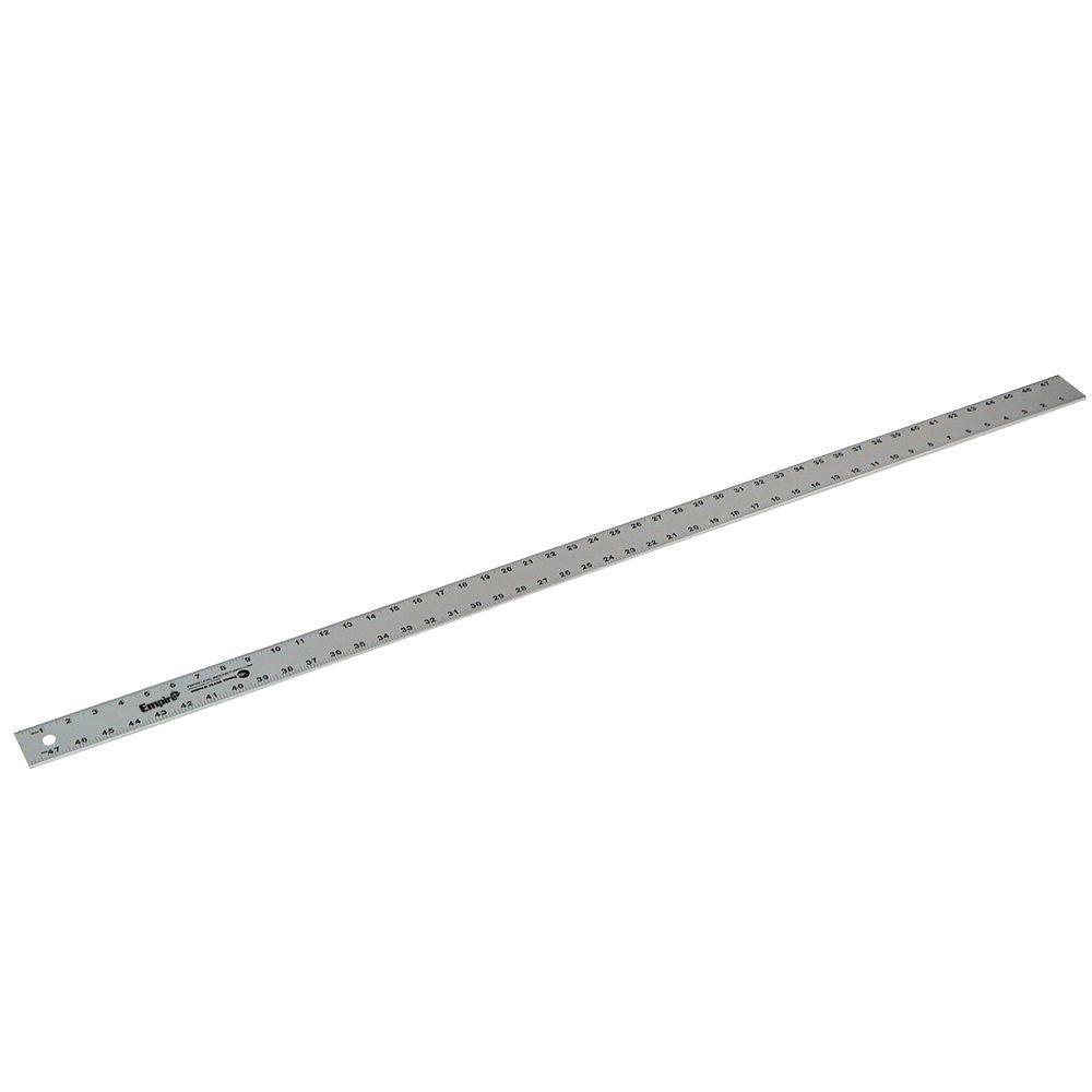 Empire 48 In Aluminum Straight Edge Ruler 4004 The Home Depot Straight Edges Ruler Edges