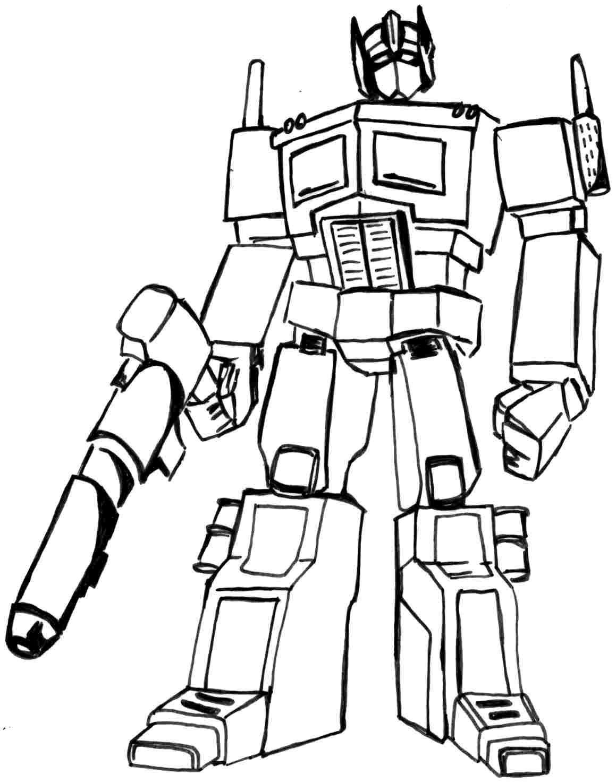 Pin De Julia En Colorings Transformers Coloring Pages Coloring