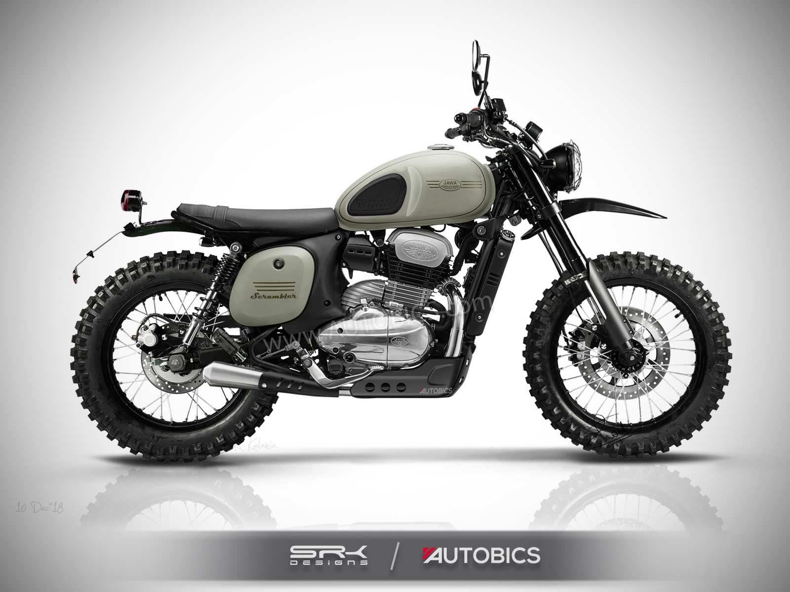 Jawa Scrambler Concept Motorcycle Imagined Rendering Concept
