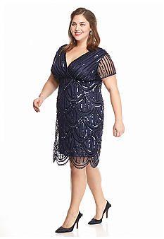 Marina Plus Size Sequin Cocktail Dress Belk