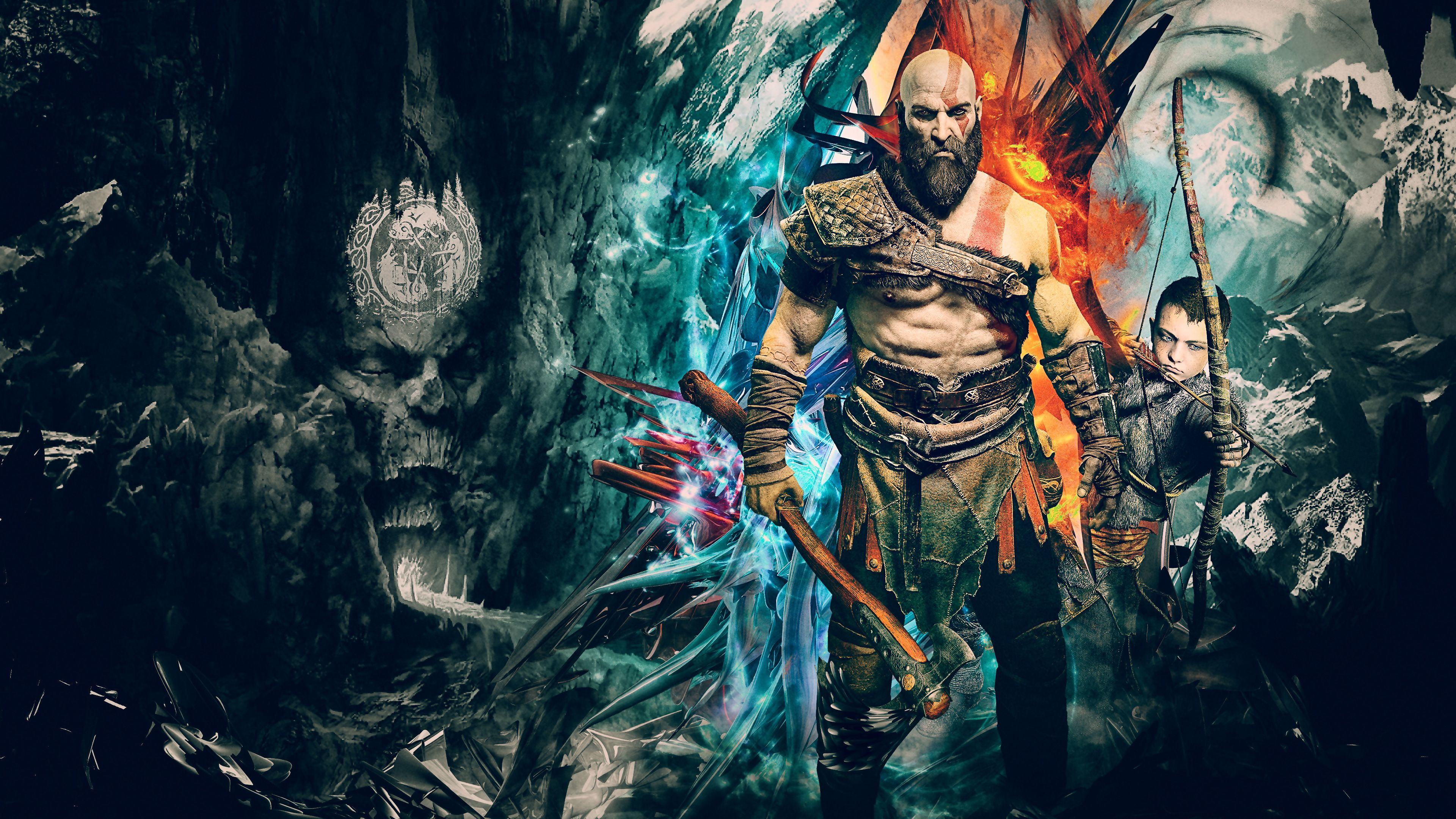 Kratos God Of War 4k Artwork Ps Games Wallpapers Kratos Wallpapers Hd Wallpapers God Of War Wallpapers God Kratos God Of War 3840x2160 Wallpaper God Of War