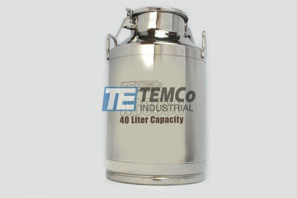 Temco Stainless Steel Milk Can Ag0050 40 Liter 10 5 Gallon Wine Pail Bucket Tote Jug