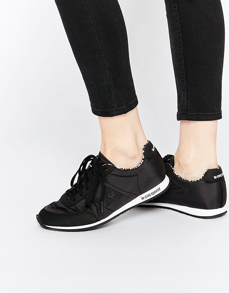 online retailer 04031 3344d Zapatillas de deporte negras con forro con estampado animal Racerone de Le  Coq Sportif