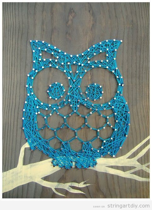 owl string art diy learn to make your own string art