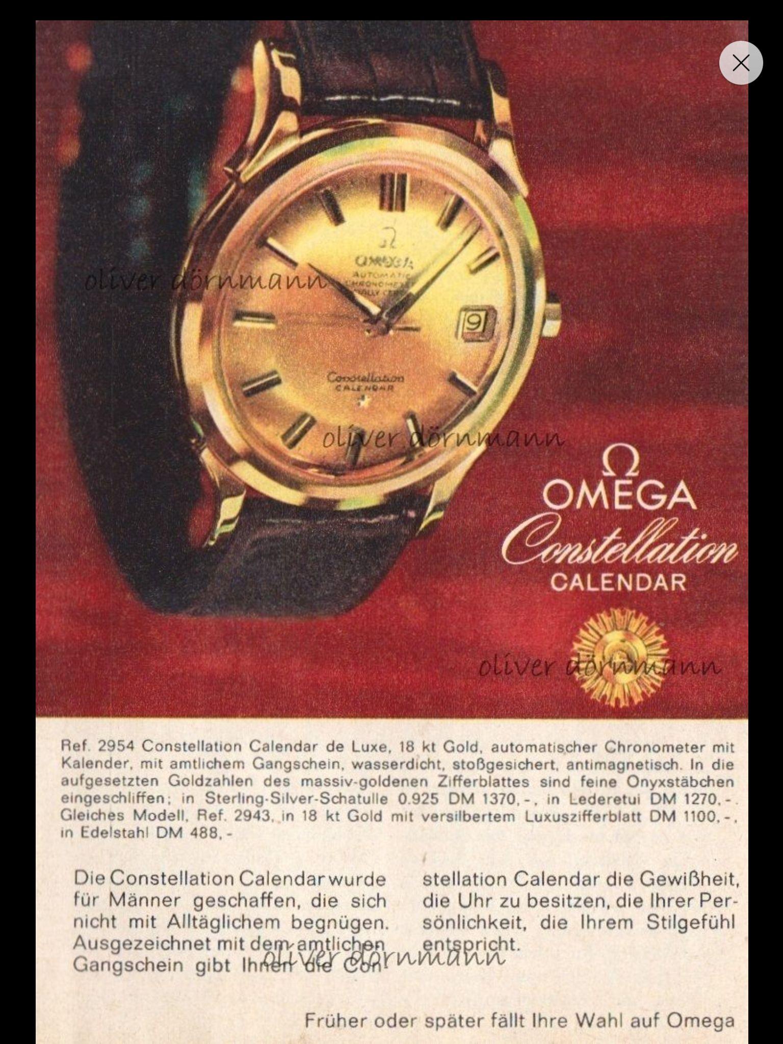 Locandina Omega anni '60