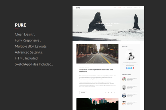 Pure , Clean WordPress Theme by MontuThemes on @creativework247