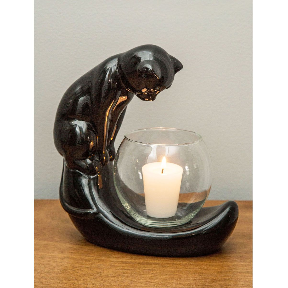 Unique Candle Holders: By The Light Of The Cat Candle Holder
