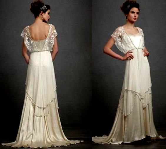 Elegant Vintage 20S Style Wedding Dresses Wedding Ideas